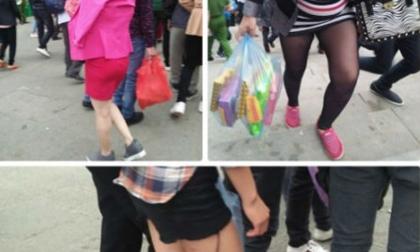 Vẫn xuất hiện thiếu nữ mặc phản cảm trong ngày Giỗ Tổ