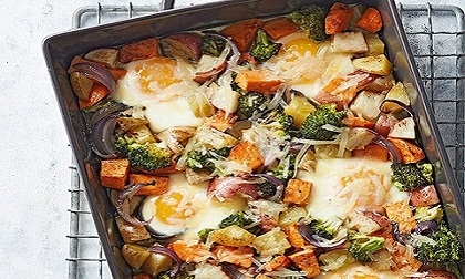 Cách làm món trứng nướng rau củ thơm ngon lạ miệng
