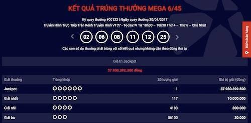 Thông tin mới nhất về tấm vé trúng xổ số Vietlott gần 38 tỉ - 1
