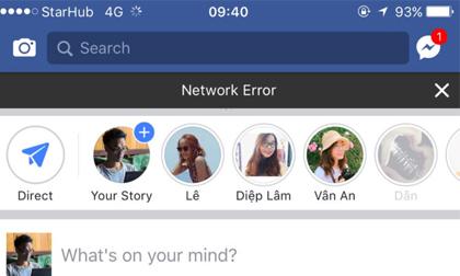 Facebook sập mạng, nhiều người không thể truy cập