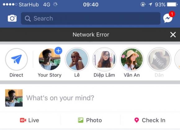 Facebook sap mang, nhieu nguoi khong the truy cap hinh anh 1