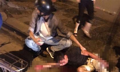 Chém nhau kinh hoàng tại Hà Nội sau va chạm giao thông