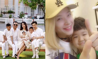 Sao Việt thân thiết bên con riêng của chồng, xóa tan nghi ngờ chuyện 'dì ghẻ con chồng'