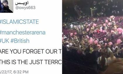 Tin nhắn ớn lạnh báo trước vụ khủng bố ở Manchester