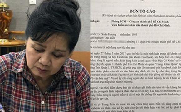 Nghệ sĩ Xuân Hương đã gửi đơn kiện Trang Trần