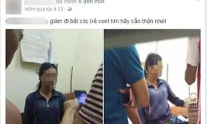 Nghệ An: Xôn xao clip người dân vây bắt người phụ nữ nghi bắt cóc trẻ em