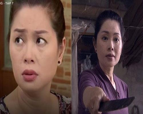 Thanh Tú vừa thủ vai dì Bích trong Sống chung với mẹ chồng vừa thủ vai Mai trong Người phán xử