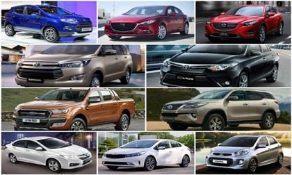10 ô tô người Việt ưa chuộng nhất nửa đầu 2017