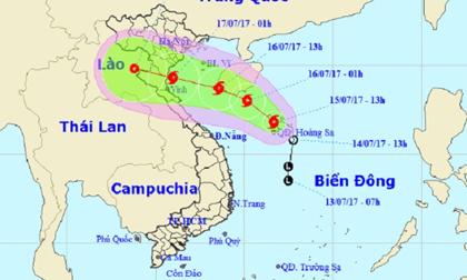 Bão số 2 giật cấp 10, hướng vào bờ biển các tỉnh Nam Định – Nghệ An