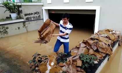 Hà Nội: Sau 1 ngày mưa bão, hàng chục căn biệt thự tại Thiên đường Bảo Sơn vẫn ngập chìm trong nước