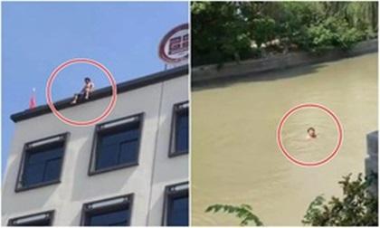 Ép vợ phá thai bất thành, người đàn ông định nhảy lầu tự tử, nhưng ngồi tầng thượng nắng quá nên quay sang nhảy sông