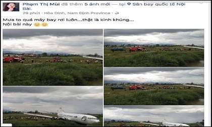Sẽ xử lý người bịa đặt tin máy bay rơi ở Nội Bài