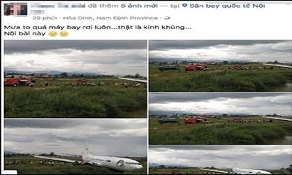 Lộ diện người tung tin thất thiệt máy bay rơi ở Nội Bài