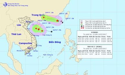 Tin thời tiết hôm nay (23.7): Tin mới nhất về áp thấp nhiệt đới trên biển và cơn bão số 3