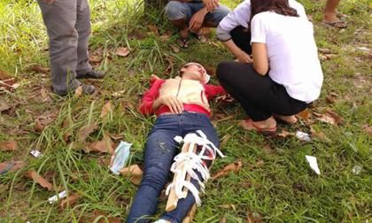 Truy đuổi 2 tên cướp giật, cô gái bị tai nạn bất tỉnh
