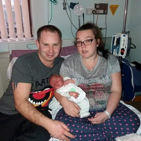 Katie và Ryan không hề lên kế hoạch sinh ra đứa con trai đầu lòng của mình.