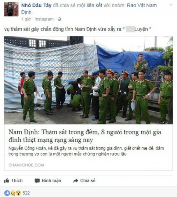 Điều tra người tung tin đồn Thảm sát tại Nam Định, 8 người thiệt mạng - Ảnh 1.
