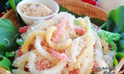 Cách làm bánh tằm khoai mì mềm ngon thơm lừng hương cốt dừa