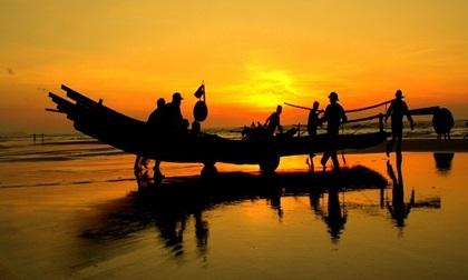 Không thể tưởng tượng bình minh trên biển xứ Thanh lại đẹp thế này