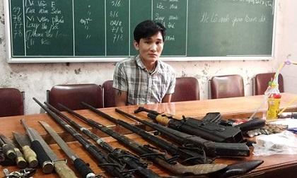 Vây bắt kẻ lập lán trại buôn ma túy trong rừng sâu, thu nhiều vũ khí 'nóng'