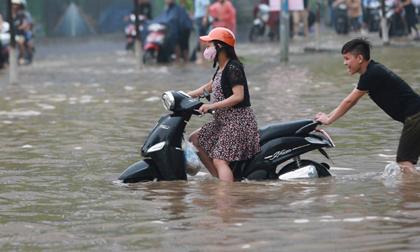 Tin bão mới nhất: Bão số 6 tăng cấp độ, Hà Nội mưa rất to, có nguy cơ ngập lụt