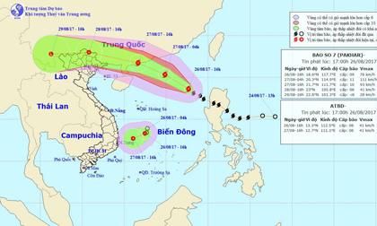 Cập nhật tin bão số 7: Bão đang tiến vào Trung Quốc, áp thấp nhiệt đới tiến sát vào miền Trung