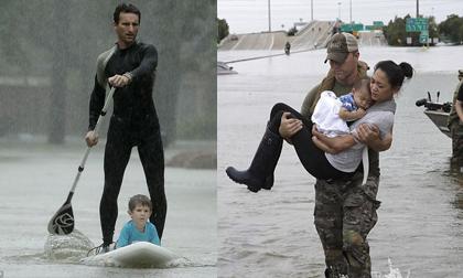 Cảm phục trước hình ảnh tuyệt vời của những anh hùng cứu người trong siêu bão mạnh nhất thập kỷ tại Mỹ