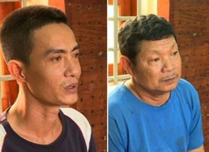 Phan Thanh Tuấn và Phan Thanh Sơn, kẻ đã hãm hiếp chính con, cháu gái của mình.