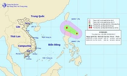 Dự báo thời tiết ngày 6/9: Áp thấp nhiệt đới gió giật cấp 9,10, di chuyển nhanh, hướng vào biển Đông