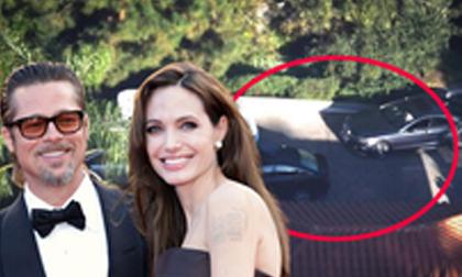 Vừa có tin Brad Pitt 'đòi ly hôn bằng được', lại thấy xe đỗ ngay trước cửa nhà Angelina Jolie