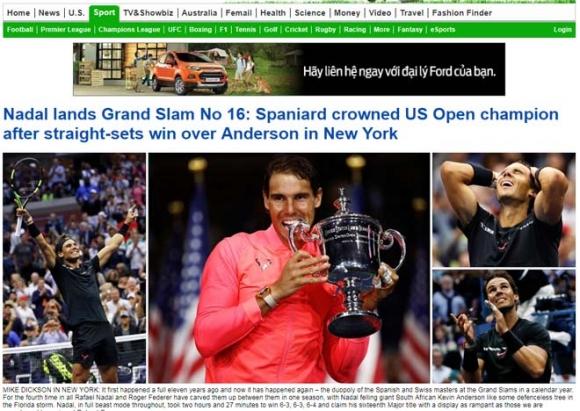 """Báo chí thế giới: """"Quái vật"""" Nadal, một năm kinh ngạc - 2"""