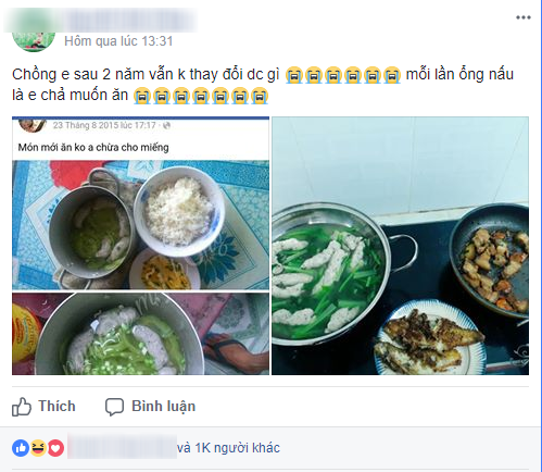 Đừng tưởng chồng chăm vào bếp là hay, cô vợ này bao năm dở khóc dở cười với tác phẩm nổi lềnh phềnh chồng nấu - Ảnh 1.