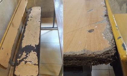 Bên trong trường học vợ NS Xuân Bắc tố học sinh phải kê dép, lấy ghế ngoài bãi phế thải để ngồi