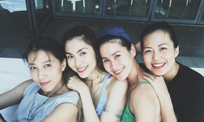 Nhan sắc hội bạn thân Hà Tăng sau 10 năm: Đã làm mẹ mà còn xinh đẹp hơn cả thời thiếu nữ!