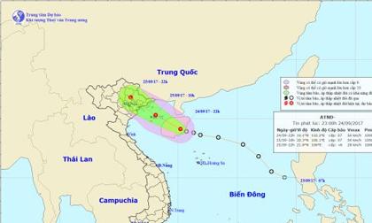 Thời tiết hôm nay (25.9): Áp thấp nhiệt đới vào Quảng Ninh - Hải Phòng, gió giật cấp 6 đến cấp 8