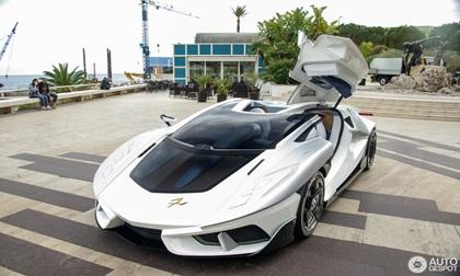 'Siêu xe vũ trụ' FV-Frangivento Asfanè bất ngờ xuất hiện ở Monaco