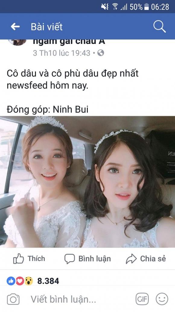Đã tìm ra danh tính cô dâu và phù dâu xinh đẹp nhất Facebook được dân mạng săn lùng suốt hôm qua-1