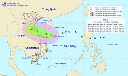 Áp thấp nhiệt đới tăng cấp, Thanh Hóa - Quảng Ngãi đang mưa trắng trời