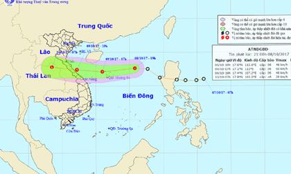 Thời tiết hôm nay (9.10): 19h tối nay, áp thấp nhiệt đới di chuyển vào Hà Tĩnh-Quảng Trị