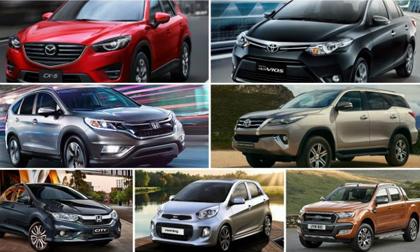 10 mẫu ô tô bán chạy nhất Việt Nam tháng 9/2017