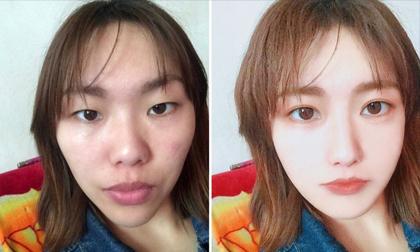 Sốc lên tận óc với gương mặt thật của gái xinh trên mạng