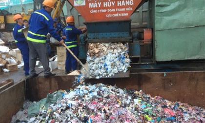 Tiêu hủy lô hàng mỹ phẩm hơn 20 tỉ đồng