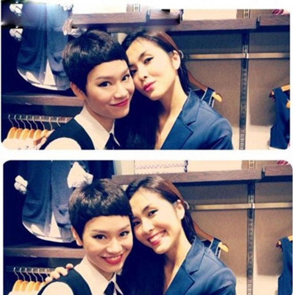 Tăng Thanh Hà - Trà My Idol là cặp chị em thân thiết lâu năm trong làng giải trí.