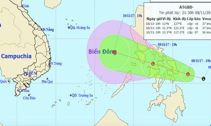 Dự báo thời tiết hôm nay 9/11: Biển Đông sắp hứng áp thấp nhiệt đới