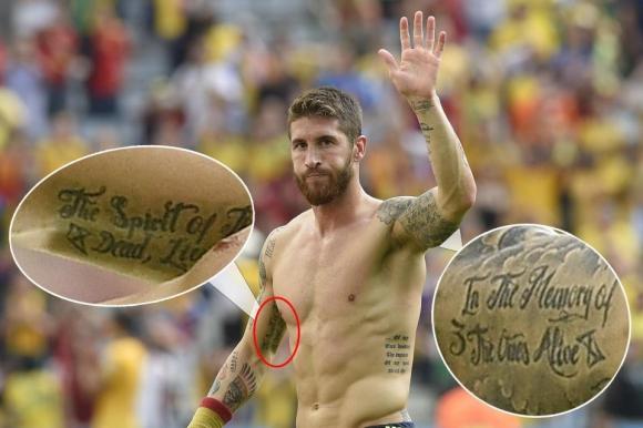 9 hình xăm gây xúc động nhất của sao bóng đá - Ảnh 1.