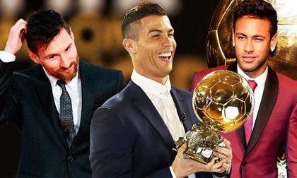 Quả bóng Vàng 2017: Ronaldo cân bằng kỷ lục của Messi