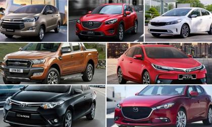 10 mẫu ô tô bán chạy nhất Việt Nam tháng 11/2017