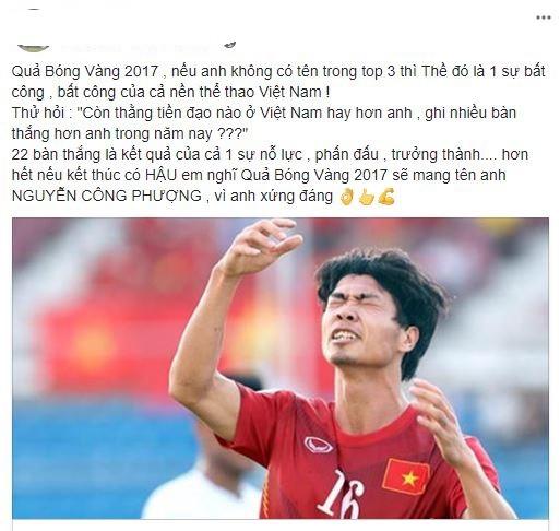 NHM phản đối khi Công Phượng trượt Top 5 Quả bóng vàng Việt Nam - Ảnh 2.