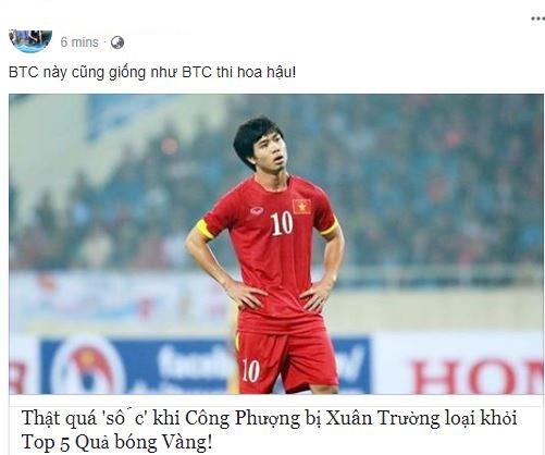 NHM phản đối khi Công Phượng trượt Top 5 Quả bóng vàng Việt Nam - Ảnh 1.