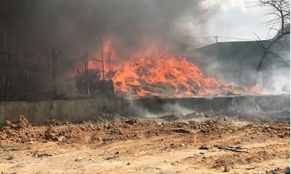Giáo viên ôm trẻ tháo chạy thục mạng khỏi đám cháy lớn ở tỉnh Bình Dương